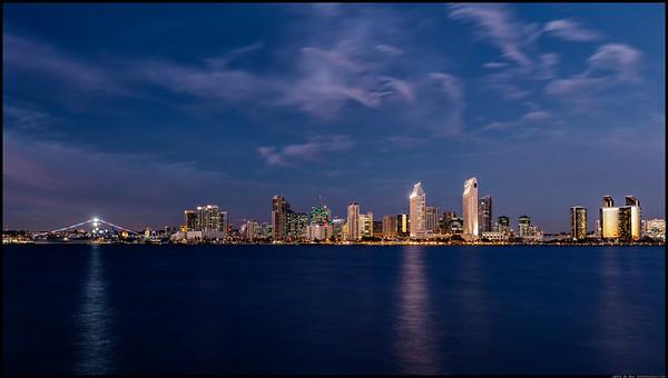 San Diego skyline in February