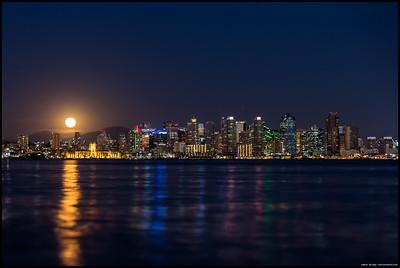 Moonrise over San Diego.
