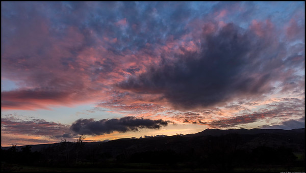 Sunset over Pamo Valley.
